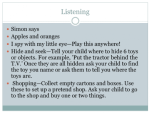 listening skills children